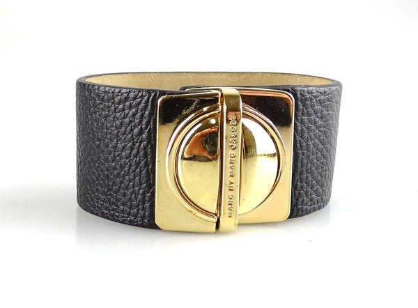 Marc By Marc Jacobs Black Leather Cuff GH