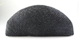 Lulu Guinness Raffia Black Clutch