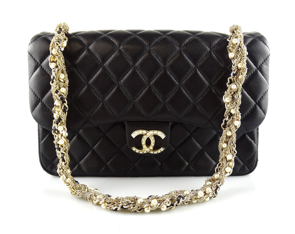 Chanel 2014 Westminster Pearl CC And Strap Single Flap Bag
