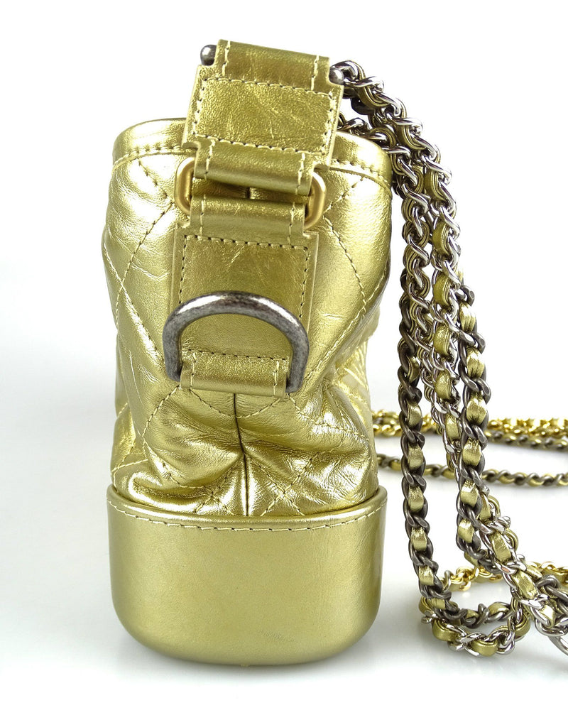Chanel Gabrielle Small Hobo Gold Aged Calfskin