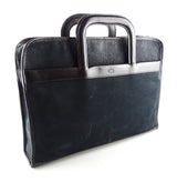 Chesneau Vintage Nubuck And Leather Slide Handle Briefcase