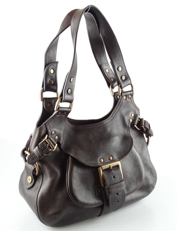Mulberry Dark Brown Vintage Phoebe Shoulder Bag