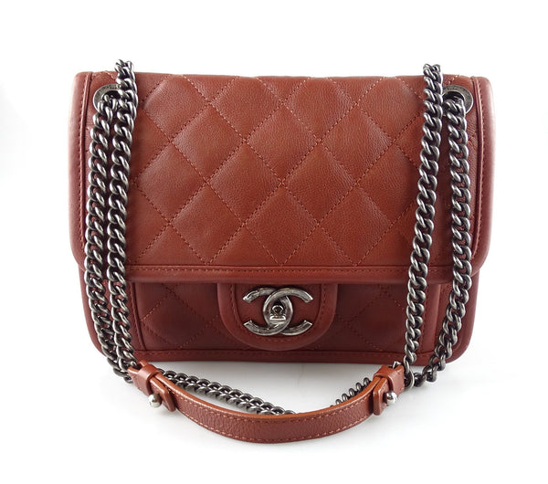 Chanel 2014 Riviera Collection Brown Flap Bag With Antiqued Hardware