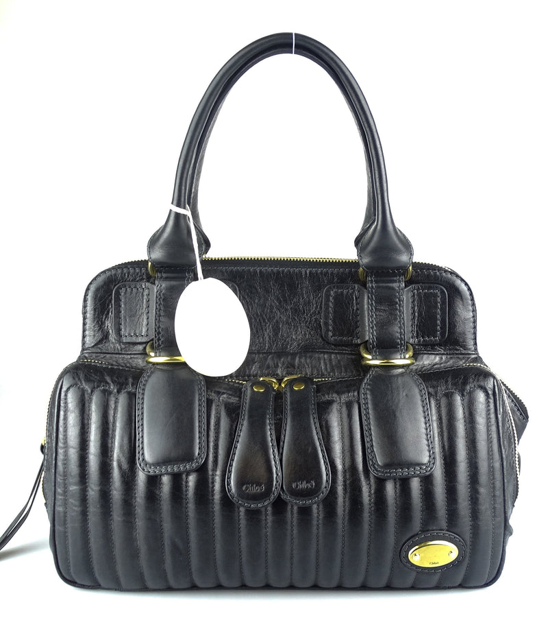 Chloe Bay Bag Quilted Leather
