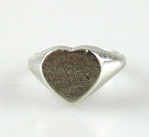 Tiffany & Co RTT Heart Sterling Silver Ring