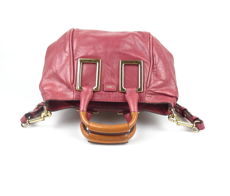 Chloe Deep Rose Pink Ethel Small With Strap