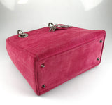 Christian Dior Cannage Stitch Pink Suede Medium Lady Dior SH