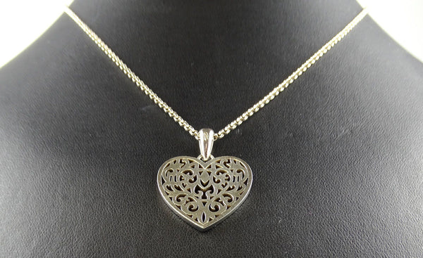 Links Of London Ornate Heart Pendant On 925 Chain