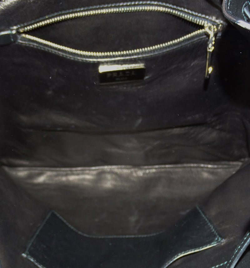 Prada Black Soft Calf Tassel Shoulder Bag SH