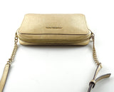 Michael Kors Metallic Gold Jet Set Cross Body