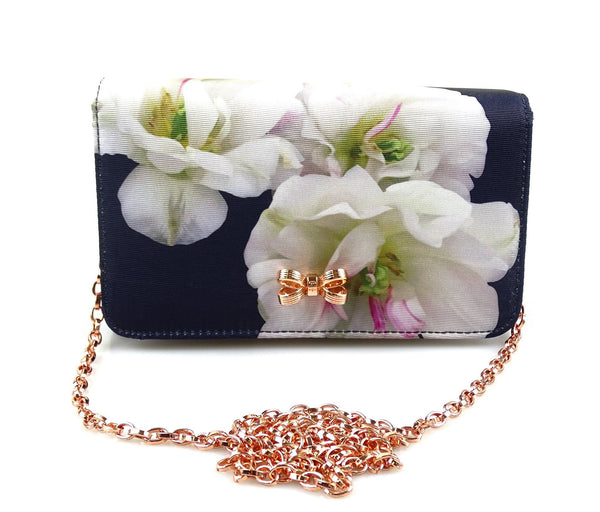 Ted Baker Gardenia Floral Bow Chain bag