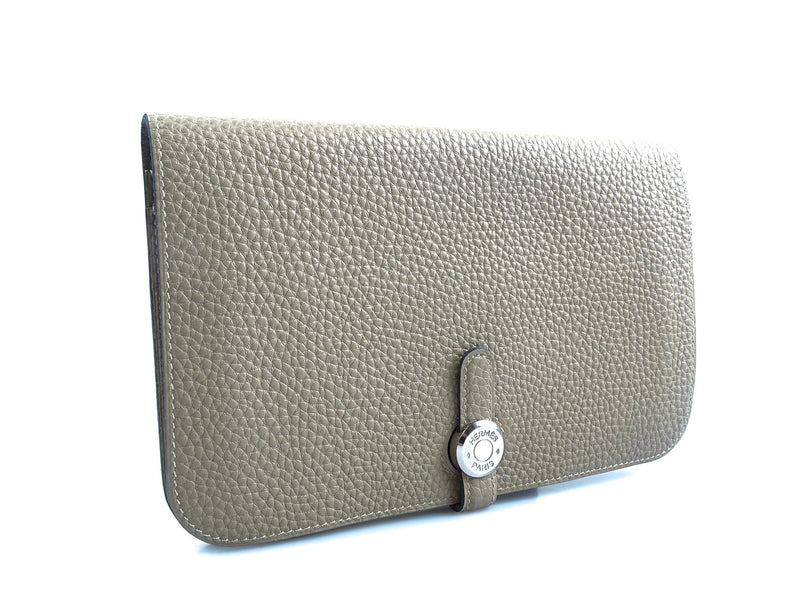 Hermes Dogon Duo Wallet Etoupe Togo With Lambskin Lining RRP €1650