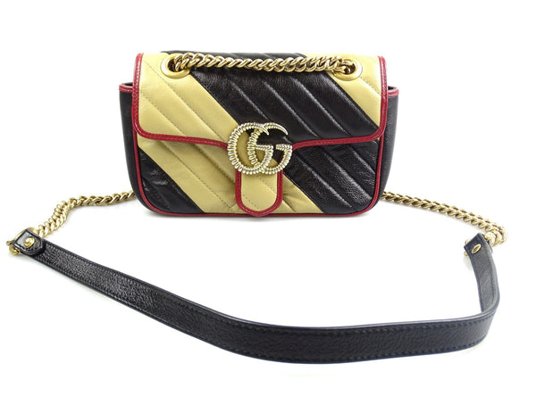 Gucci Mini Marmont Ltd Edt Beige/Black/Red GH