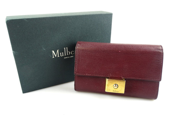 Mulberry Small Cheyen Oxblood Wallet