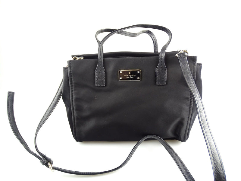 Kate Spade Dawn Black Nylon Small Tote With Long Strap