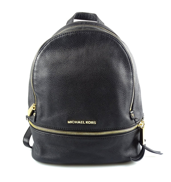 Michael Kors Rhea Medium Black Leather Backpack GH RRP €325