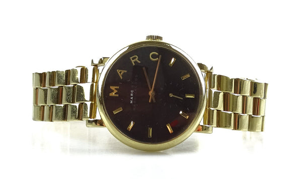 Marc Jacobs MBM3355 Baker Medium Black Dial With Gold Bracelet Watch