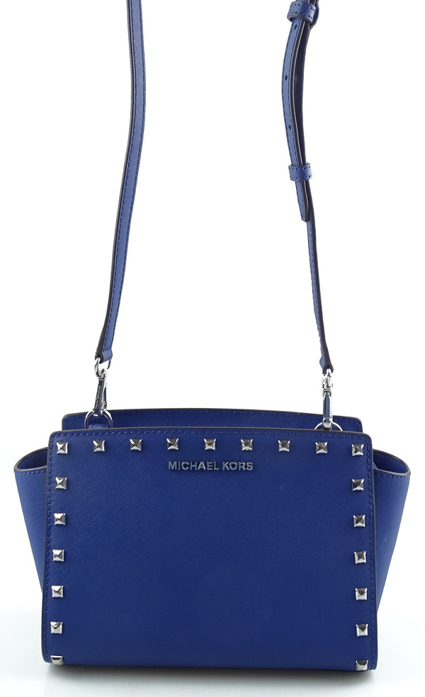 Michael Kors Selma Studs Royal Blue Crossbody Bag