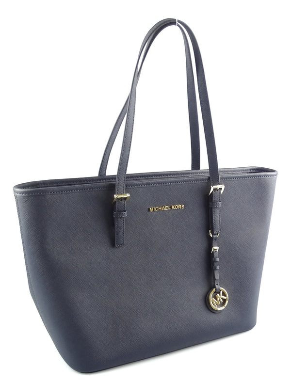 Michael Kors Navy Larget Jet Set Travel Tote GH