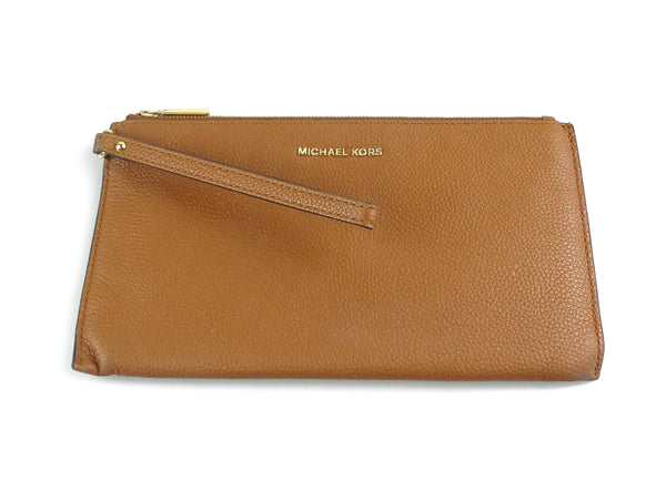 Michael Kors Mercer Large Pebbled Leather Luggage Wristlet
