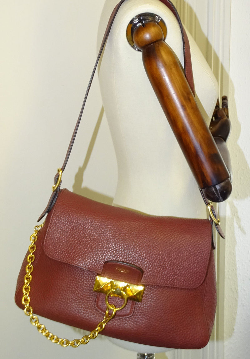Mulberry Keeley Heavy Grain Crimson Shoulder Bag