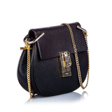 Small Grained Leather Drew Crossbody Bag Image# 2