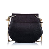 Small Grained Leather Drew Crossbody Bag Image# 3