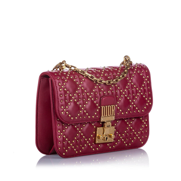 Large Studded Dioraddict Leather Crossbody Bag Image# 2