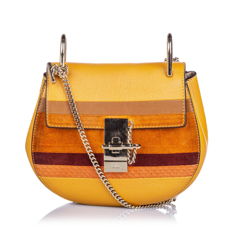 Patchwork Leather Drew Crossbody Bag Image #1