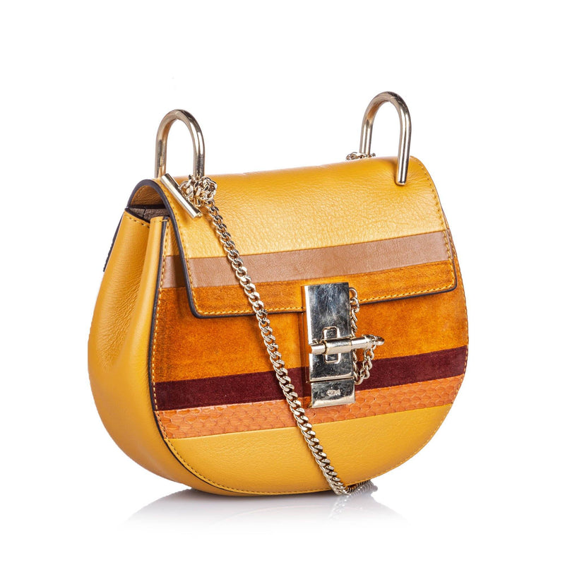 Patchwork Leather Drew Crossbody Bag Image# 2