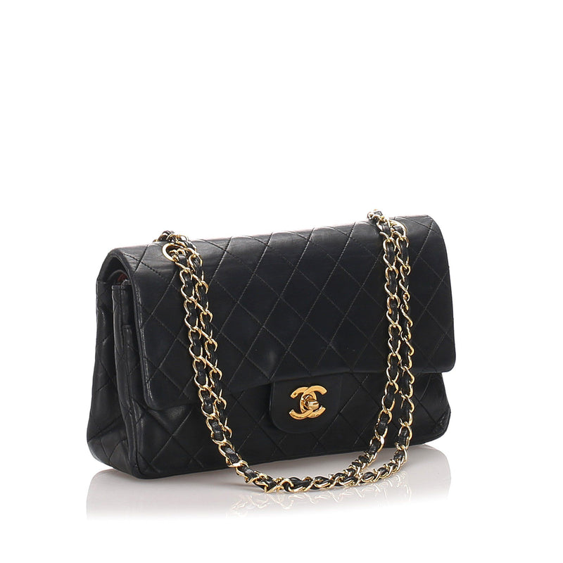 Chanel Vintage Classic Medium Lambskin Double Flap Bag