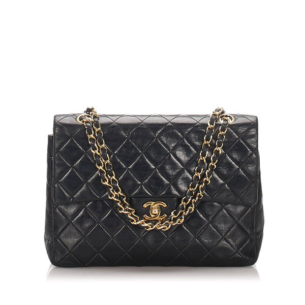 Chanel Vintage Classic Medium Lambskin Single Flap Bag