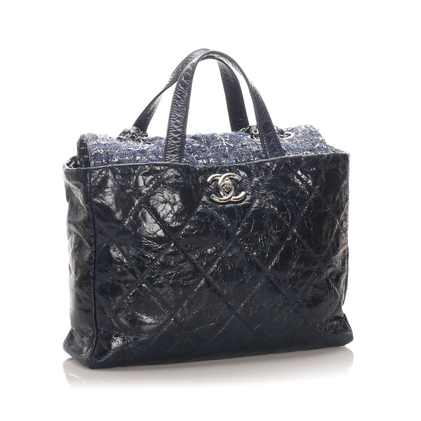 Chanel Leather & Tweed Portobello Tote Bag