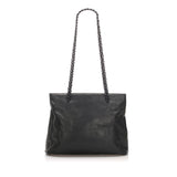 Chain Leather Tote Bag Image #1