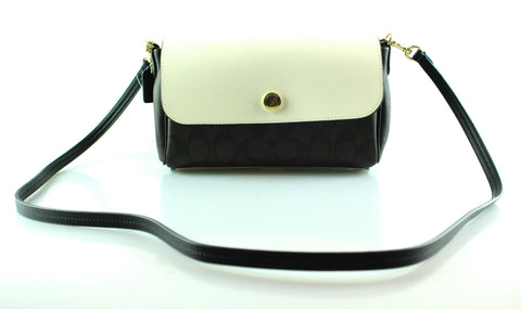Coach Reversible Black/White Signature Crossbody
