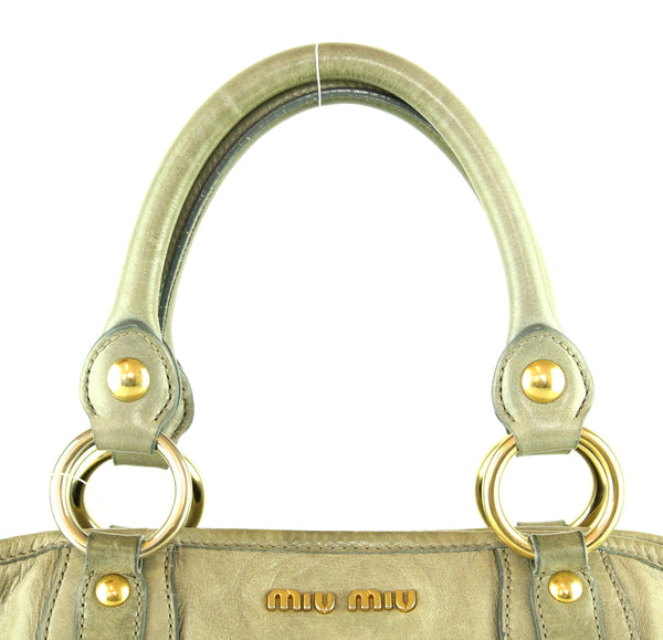 Miu Miu Olive Green Shopper GH