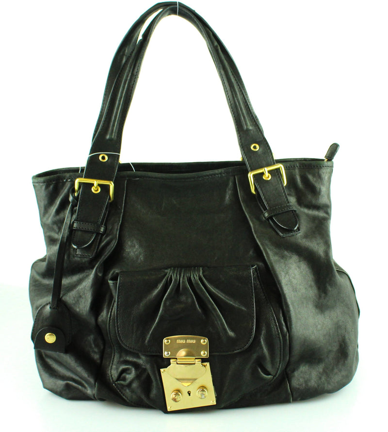 Miu Miu Large Black Top Handle Shopper GH