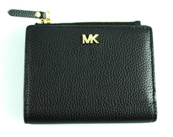 Michael Kors Black Grained Leather Compact Purse GH