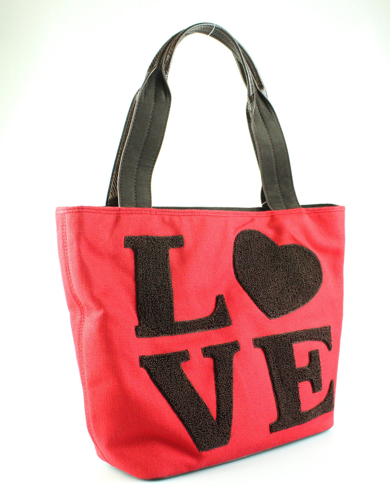 Love Moschino Love Red Cotton Canvas Tote