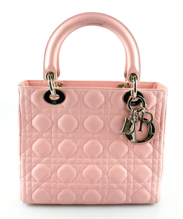 Christian Dior Lady Dior Lambskin Baby Pink Small