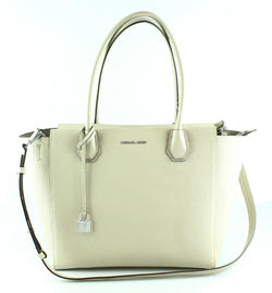 Michael Kors Selby Large Ivory Leather Satchel
