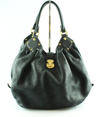 Louis Vuitton Black Mahina Hobo TJ3160