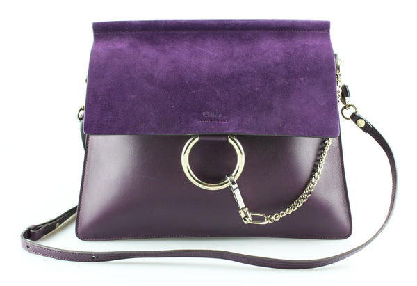 Chloe Intense Violine Suede/Leather Medium Faye