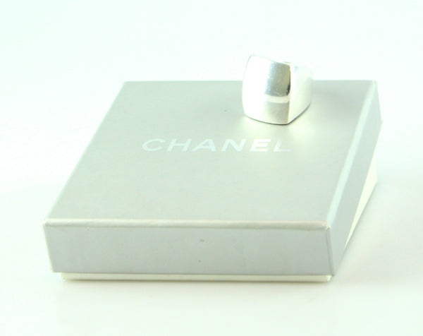 Chanel Sterling Silver Squared Ring