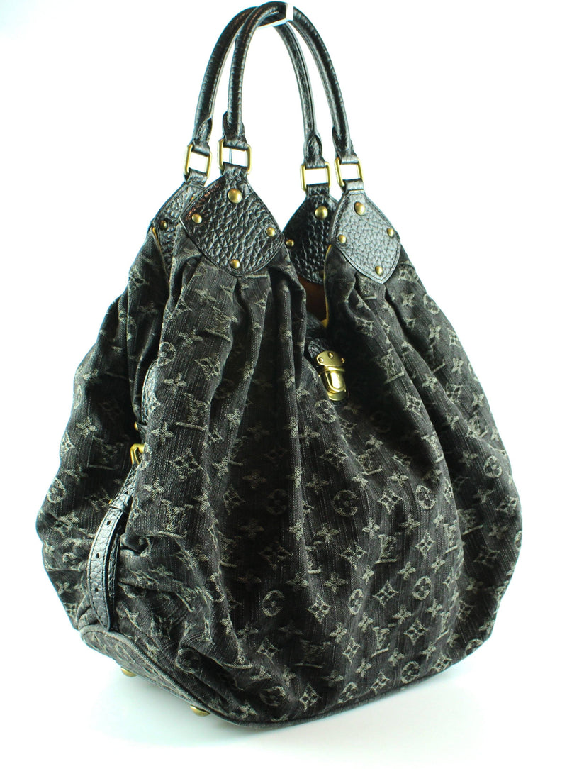 Louis Vuitton Denim Noir Mahina Hobo FL4097
