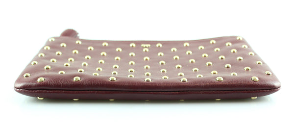 Anya Hindmarch Burgundy Leather Studded Pouch GH