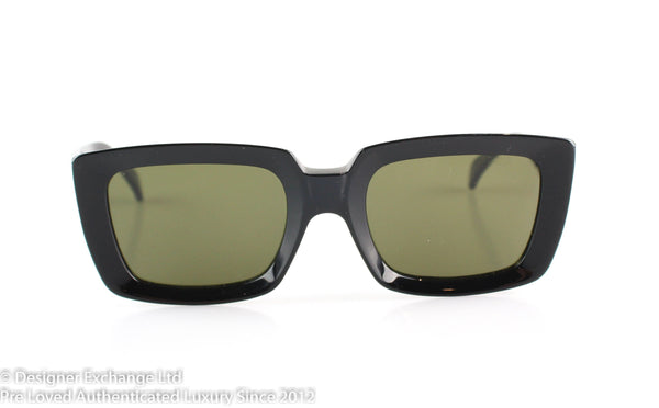 Celine CL41449/S Black Square Frame Sunglasses (L)