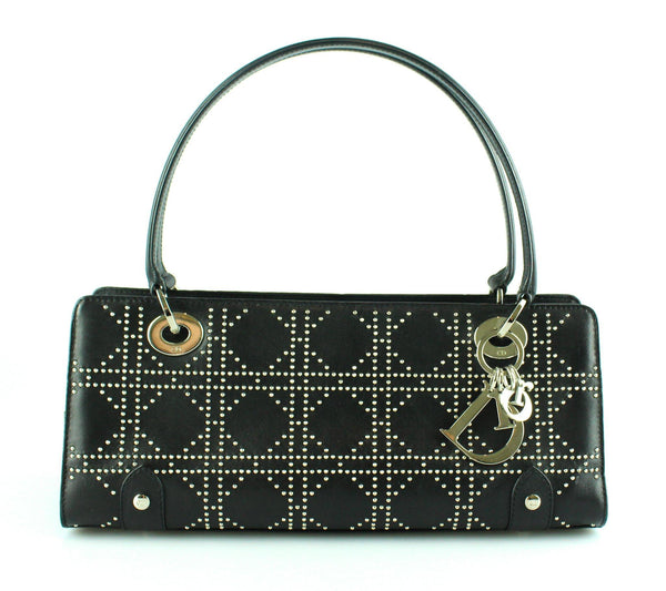 Christian Dior Studded East West Black Lady Dior