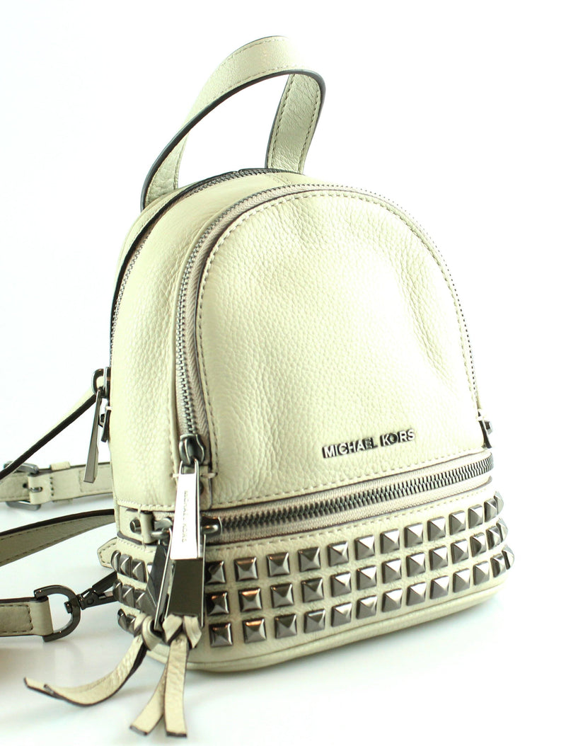 Michael Kors Mini Rhea Studded Backpack Cement