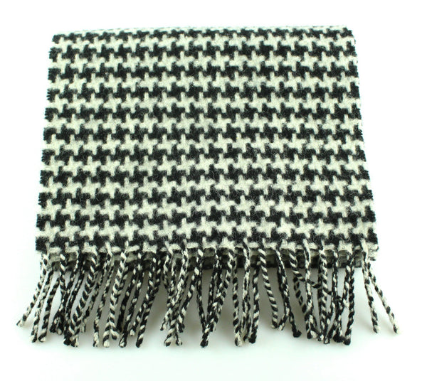 Mulberry Houndstooth Lambswool Scarf